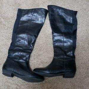 Ladies (Leather) calf/knee high boots! Steve Madde